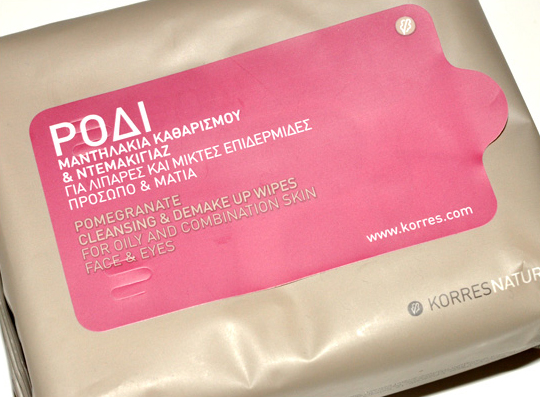 Korres Makeup Removing Wipes