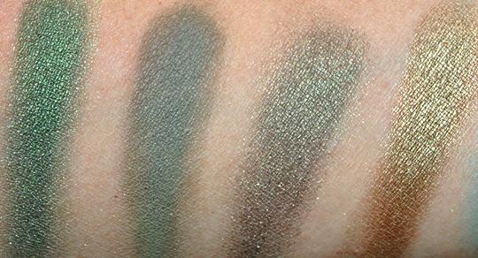 MAC Eyeshadow Swatches - Greens & Teals