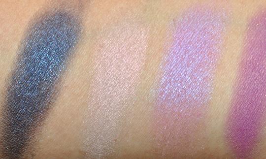 mac eyeshadow swatches purples