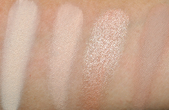 MAC Eyeshadow Swatches - Pinks & Highlighters