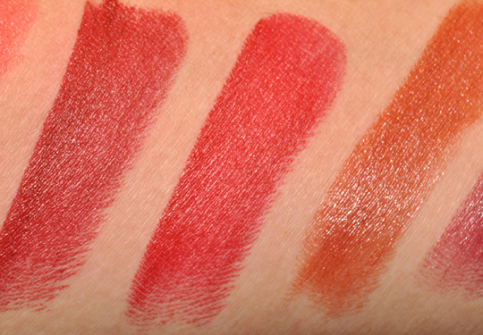Nars Lipsticks Swatches