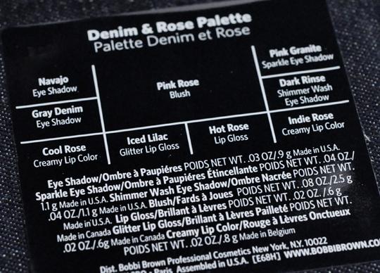 Bobbi Brown Denim & Rose Palette