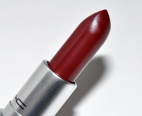 Mac dark side lipstick review photos swatches for Mac cosmetics diva lipstick