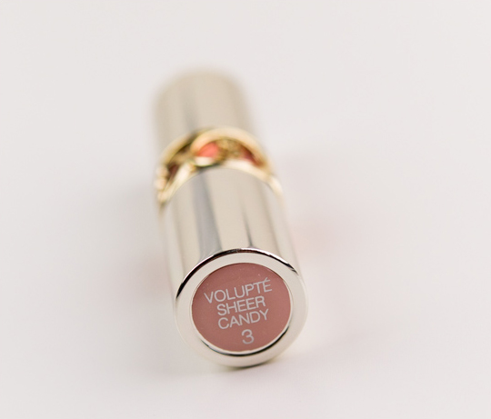 YSL Juicy Grapefruit (03) Volupte Sheer Candy Lipstick