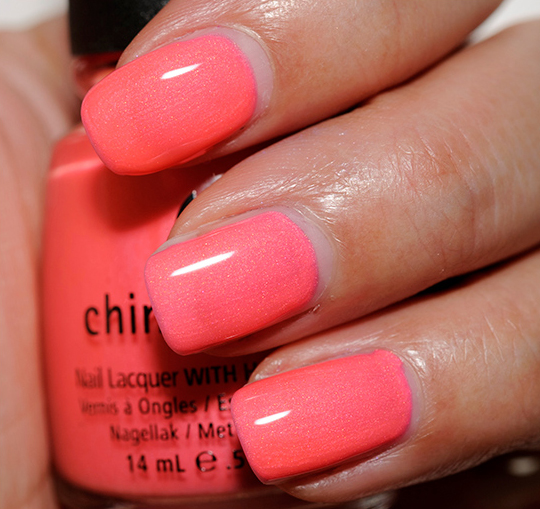 China Glaze Pink Plumeria Nail Lacquer Review Photos Swatches