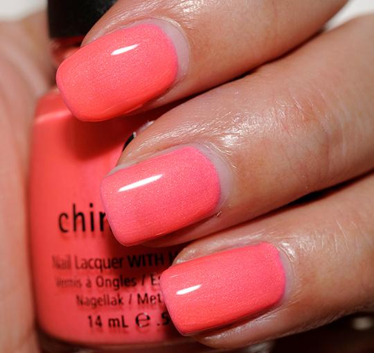 China Glaze Red Nail Polish: China Glaze Pink Plumeria Nail Lacquer Review, Photos