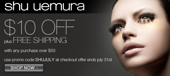 Get $10 off $50 at shuueumura-usa.com!