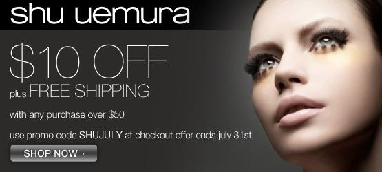 Get $10 off $50 at shuueumura-usa.com!