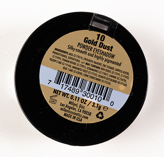 Milani Gold Dust Powder Eyeshadow