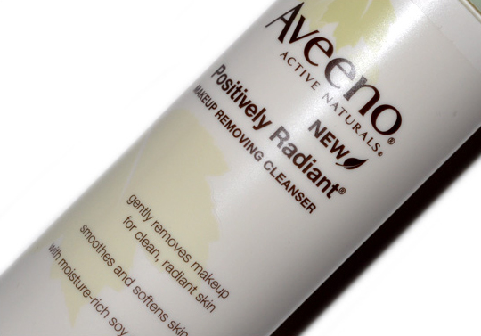 Aveeno Positively Radiant Makeup Removing Cleanser Review & Photos