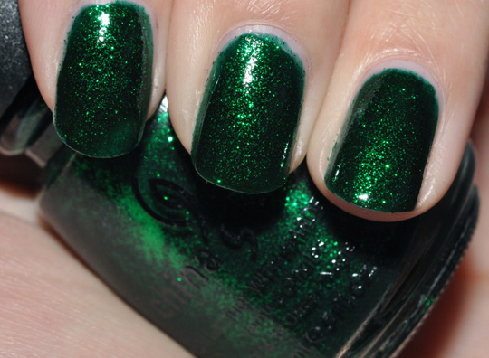 China Glaze Emerald Green Nail Lacquer