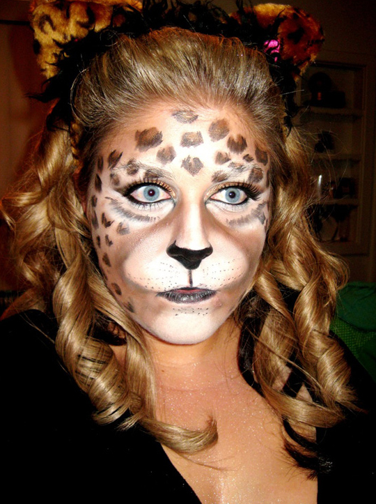halloween makeup leopard. Black Bedroom Furniture Sets. Home Design Ideas