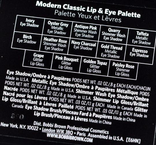 Bobbi Brown Modern Classic Lip & Eye Palette