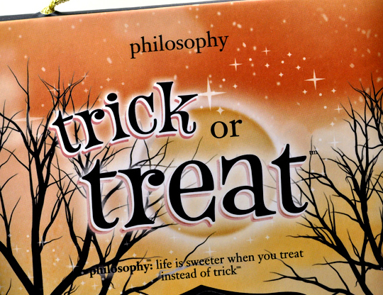 Philosophy Trick or Treat