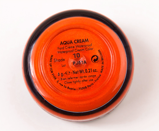 Make Up For Ever #10 Aqua Cream