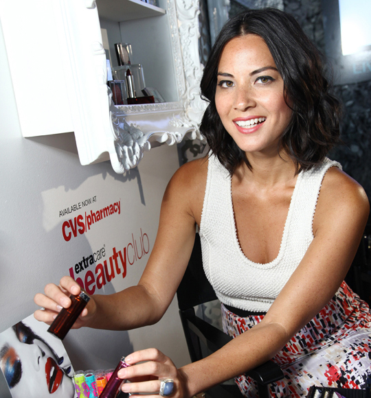 Olivia Munn @ CVS/pharmacy & Maybelline New York 2012