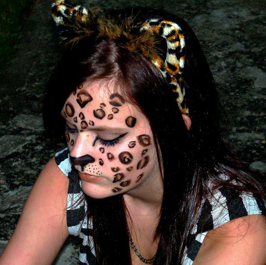 Halloween Makeup:  Leopard