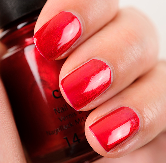 china glaze cranberry splash nail lacquer review photos