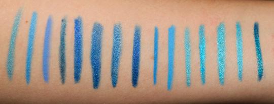 Blue Eyeliners