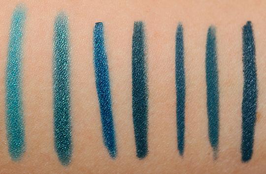 Blue-Teal Eyeliners