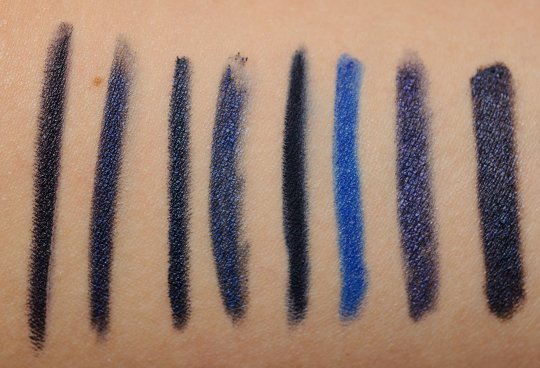 Navy Blue Eyeliners Swatches Dupes And Comparisons