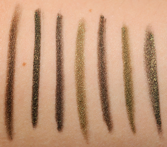 Olive Green Eyeliners Swatches Dupes And Comparisons