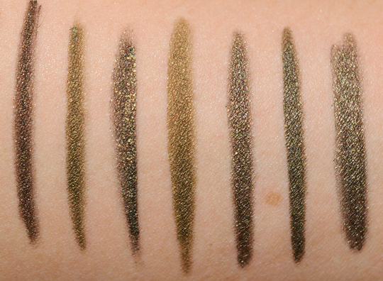 Olive Green Eyeliners