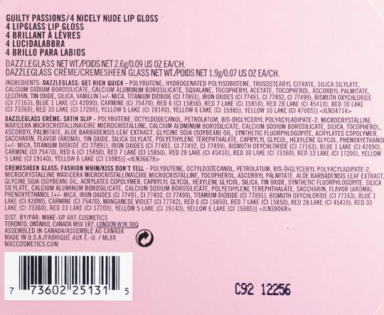 MAC Nicely Nude Lip Gloss Set