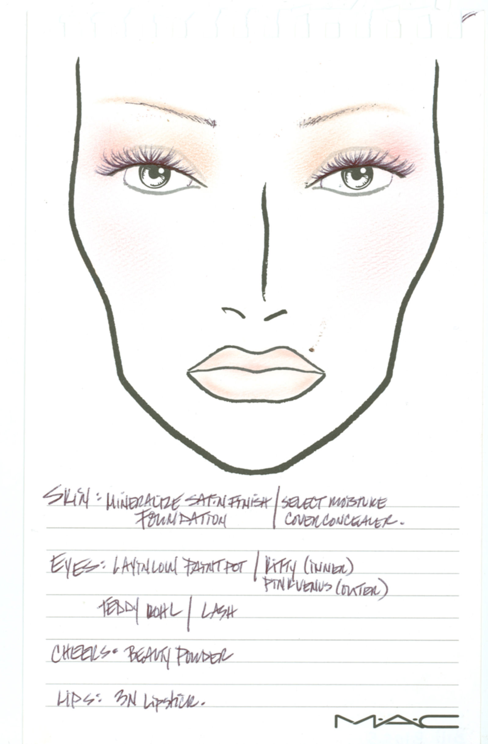 Turbo MAC Cosmetics - N Collection Face Charts from Fashion Week FA01