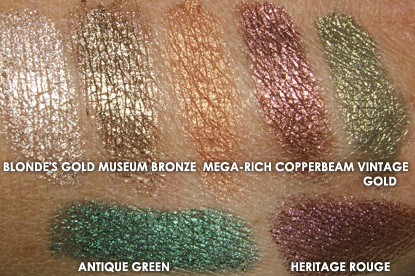 MAC Overrich Pigment Swatches
