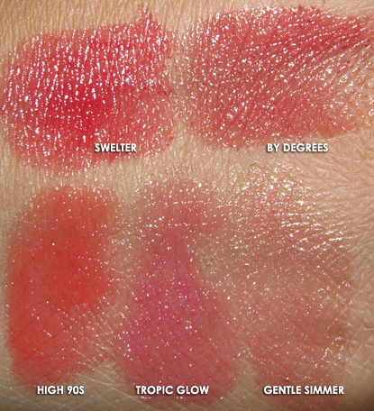 MAC Cosmetics Cool Heat Swatches