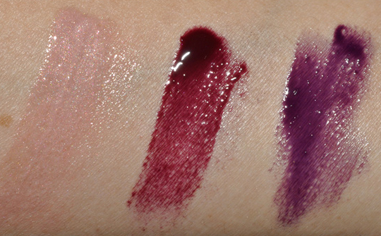 MAC Lipglasses:  Runway Fave, New Berry, So This Season