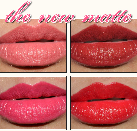 Lancome Mix & Matte Collection: Matte Lipsticks Review, Photos