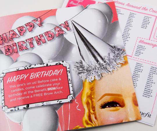 benefit brow arch birthday