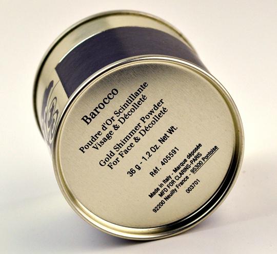 Clarins Barocco Gold Shimmering Powder