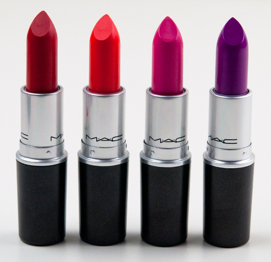MAC Lipsticks Cockney Neon Orange Something New Style Curve
