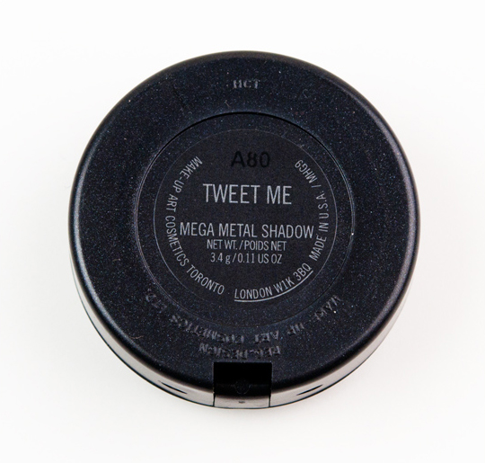 MAC Tweet Me Mega Metal Eyeshadow