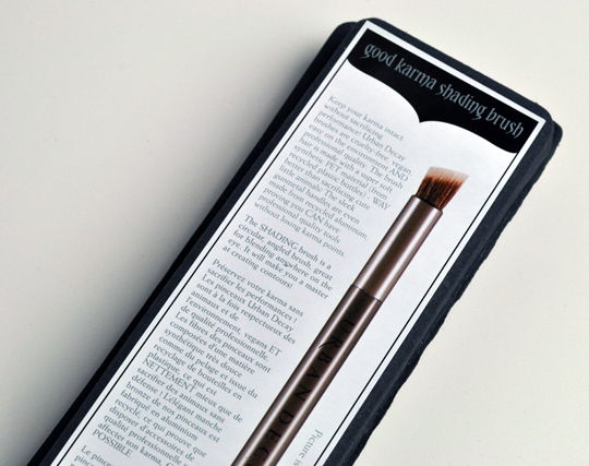 Urban Decay Good Karma Brush Packaging
