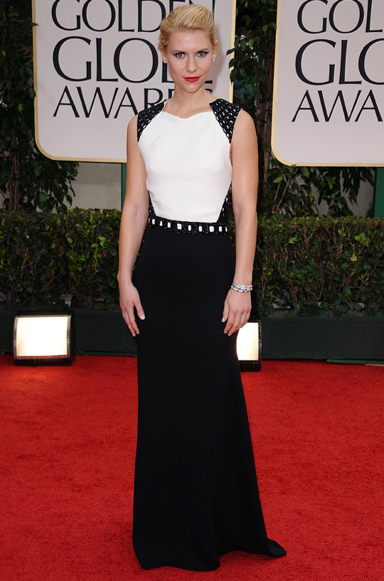 Claire Danes @ 2012 Golden Globes Awards
