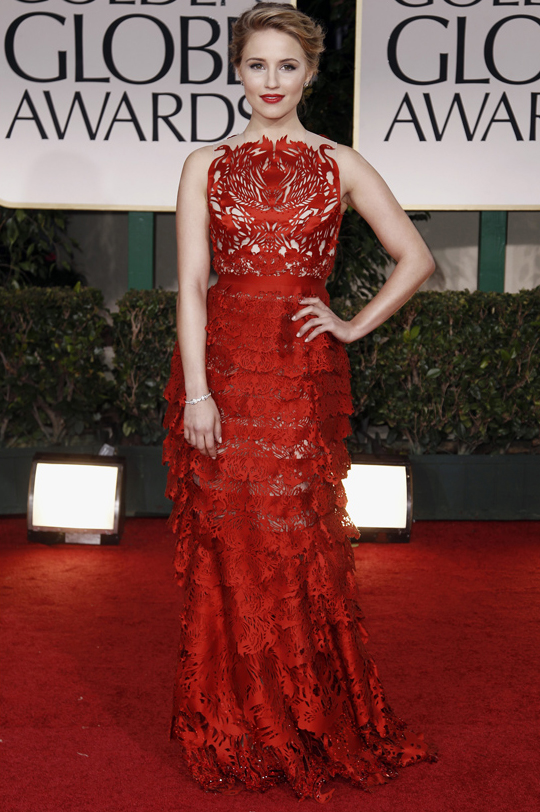 Dianna Agron @ 2012 Golden Globes Awards