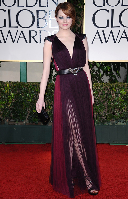 Emma Stone @ 2012 Golden Globes Awards