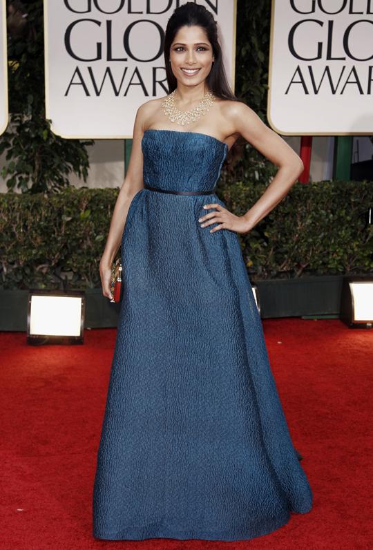 Freida Pinto @ 2012 Golden Globes Awards