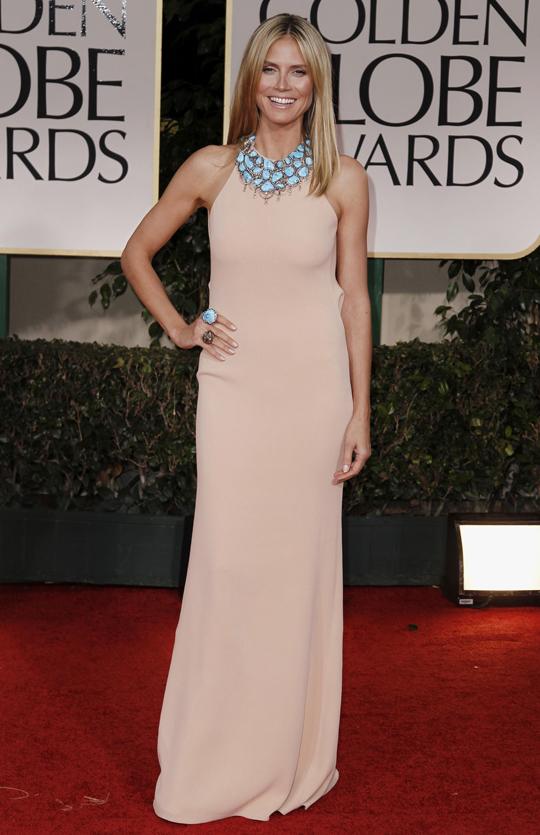 Heidi Klum @ 2012 Golden Globes Awards