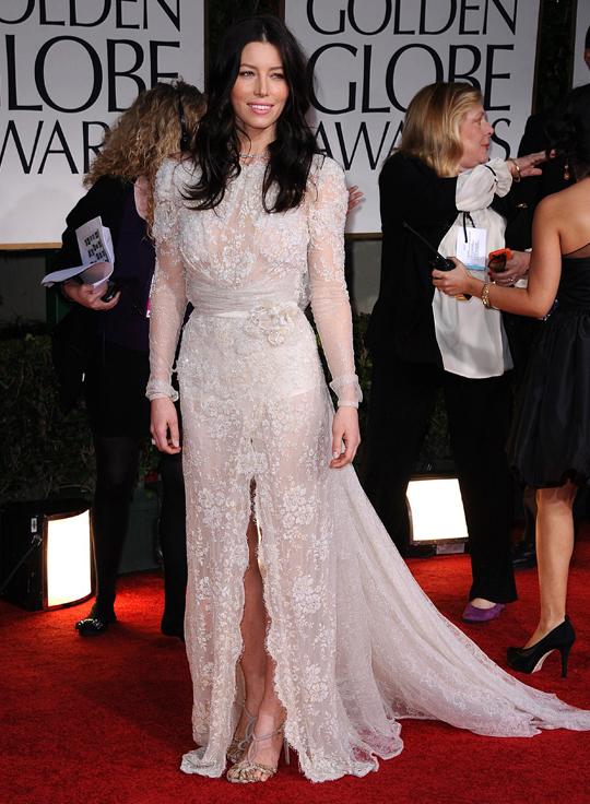 Jessica Biel @ 2012 Golden Globes Awards