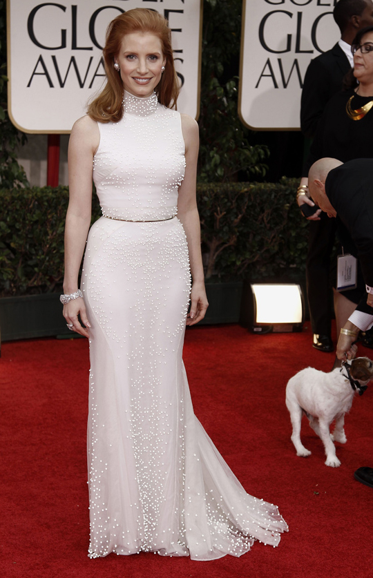 Jessica Chastain @ 2012 Golden Globes Awards