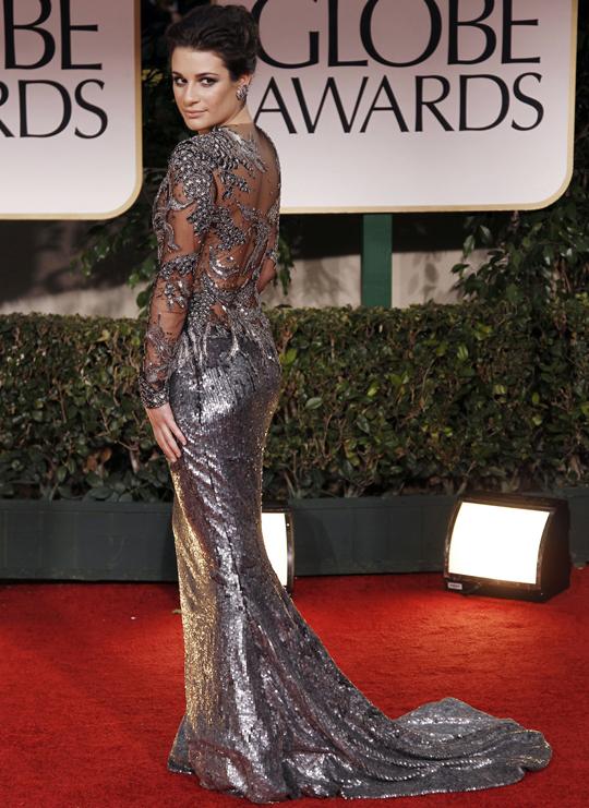 Lea Michele @ 2012 Golden Globes Awards