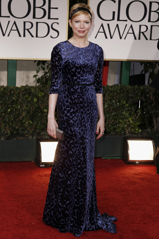 Michelle Williams @ 2012 Golden Globes Awards