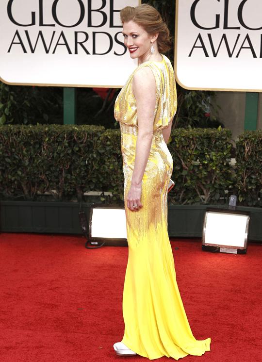 Mireille Enos @ 2012 Golden Globes Awards