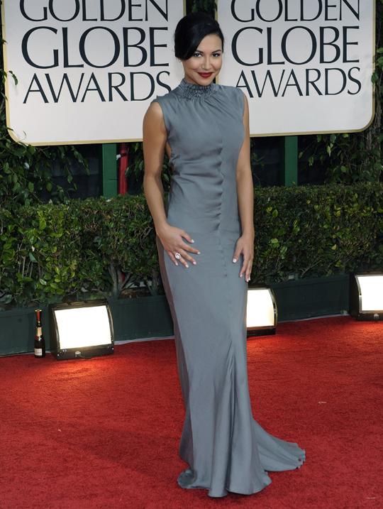Naya Rivera @ 2012 Golden Globes Awards