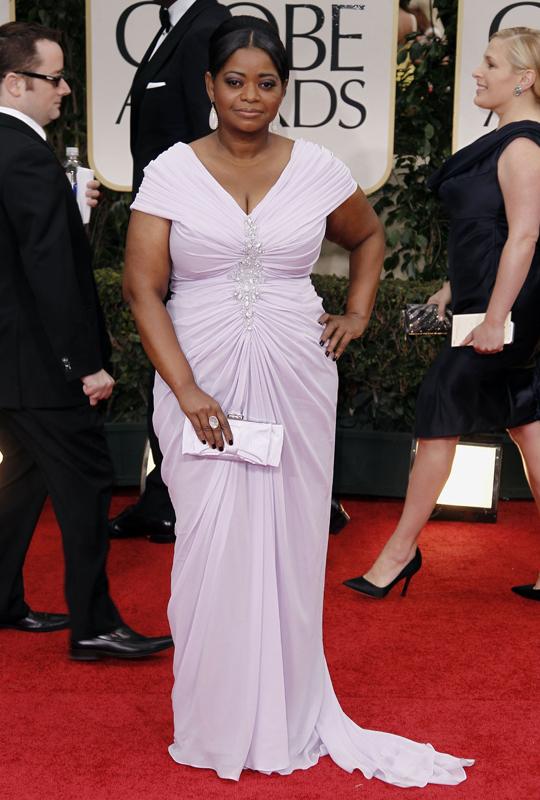 Octavia Spencer @ 2012 Golden Globes Awards